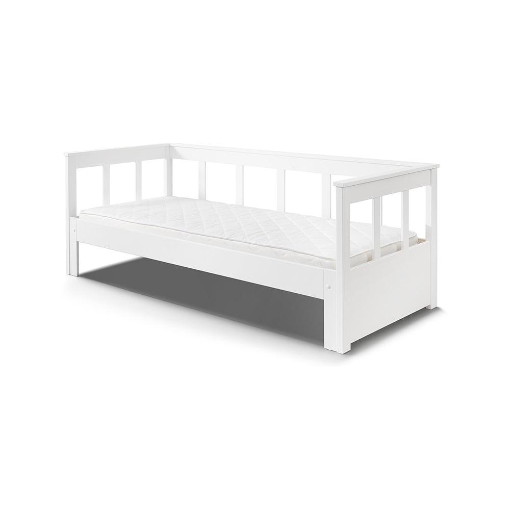 Biely rám postele z masívneho borovicového dreva Vipack Pino, 200 × 90 cm