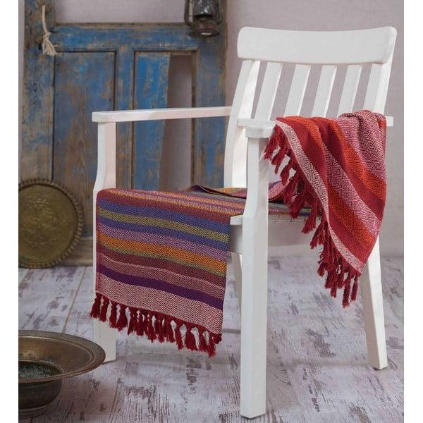 Hammam osuška Renkli Claret Red, 100 x 180 cm