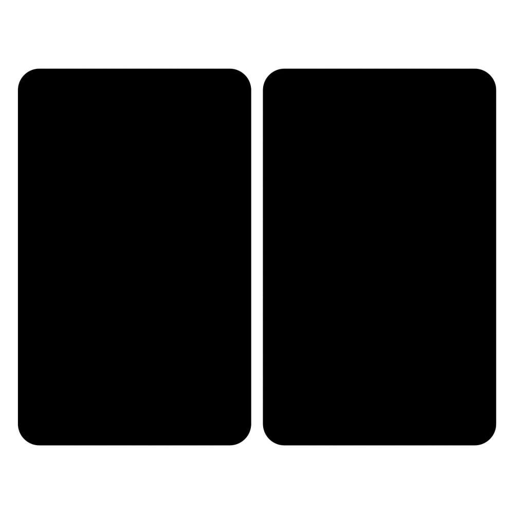 Set 2 sklenených krytov na sporák Wenko Universal black