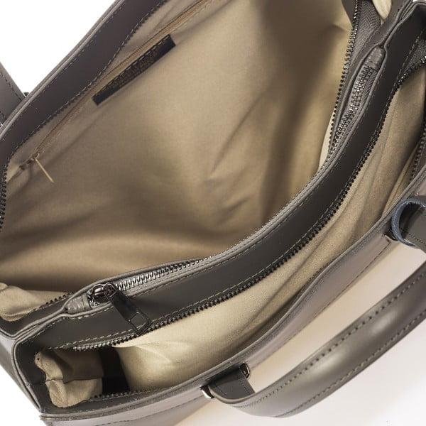 Tmavosivá kožená kabelka Giorgio Costa Prato