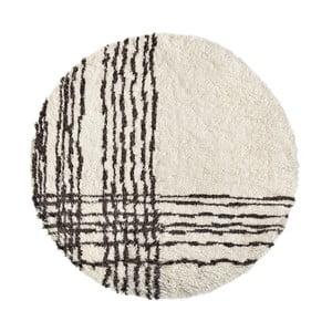 Vlnený koberec Linen Efrain, ⌀ 200 cm