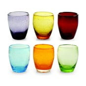 Sada 6 farebných pohárov Villa d'Este Rainbow, 280 ml