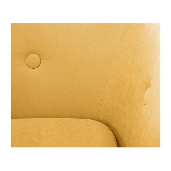 Horčicovožltá trojmiestna pohovka Scandi by Stella Cadente Maison, pravý roh