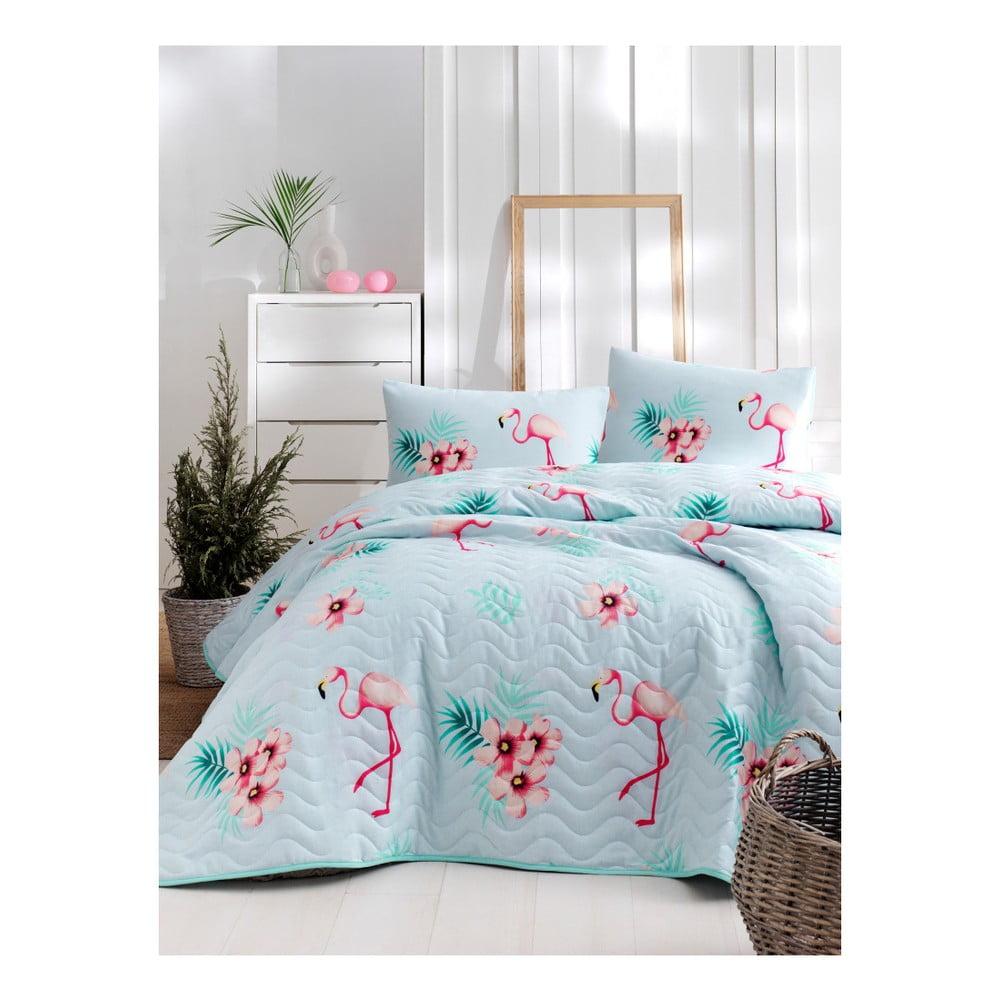 Set bavlnenej prikrývky cez posteľ a obliečky na vankúš Lura Parejo, 160 × 220 cm