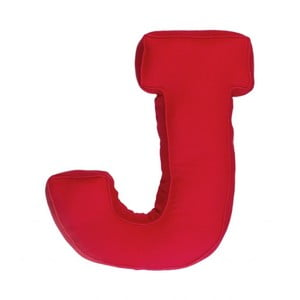 Látkový vankúš J, červený