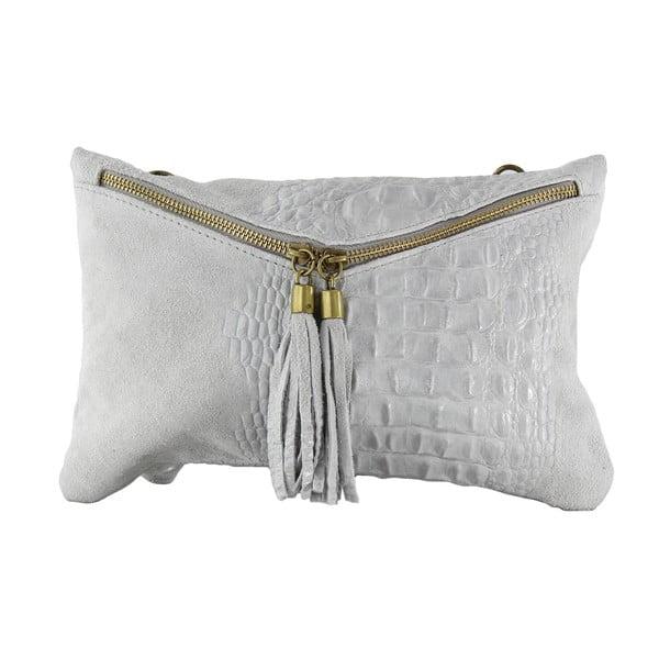 Kožená listová kabelka Wissa, šedé