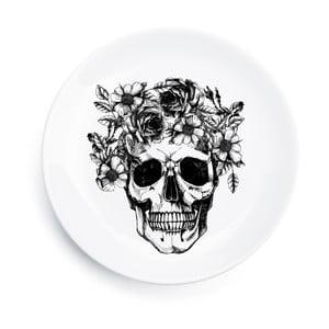 Porcelánový tanier Skull, 25 cm