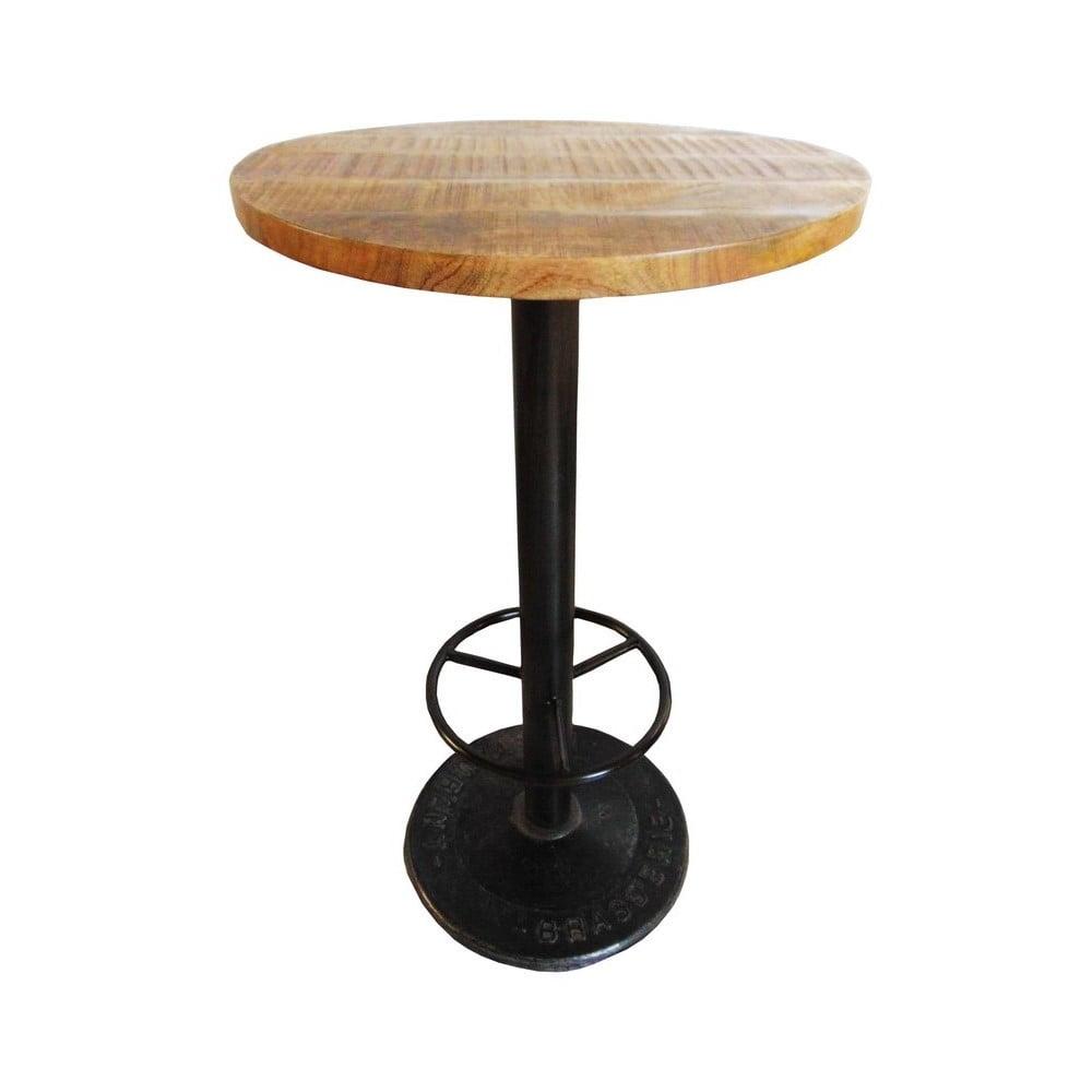 Barový stolík s doskou z mangového dreva Antic Line Mange, ø 60 cm