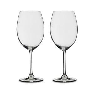 Sada 2 pohárov na červené víno z krištáľového skla Bitz Fluidum, 580 ml