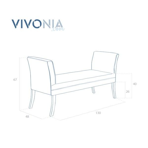 Hnedá lavica Vivonita Selma