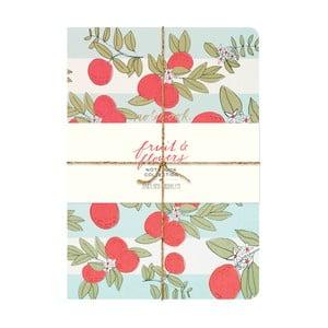Zápisník Chronicle Books Fruit & Flowers Notebook
