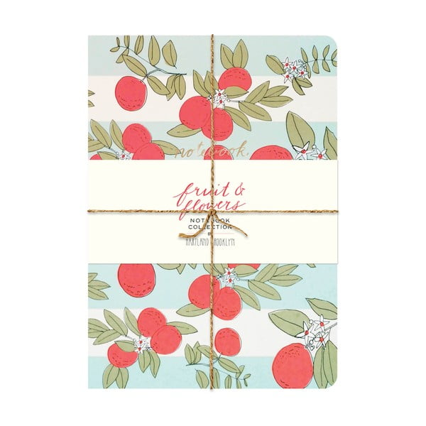 Zápisník Chronicle Books Fruit & Flowers Notebook