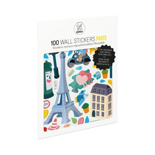 Sada samolepiek OMY Paris, 100 ks