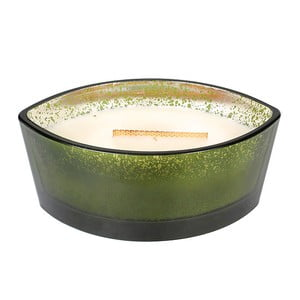 Zelená sviečka WoodWick v dekoratívnej váze, 50 hodín