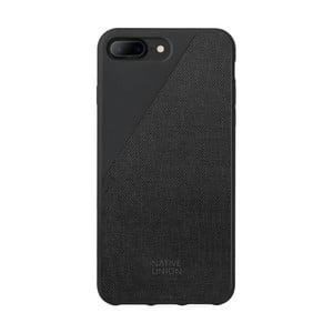 Čierny obal na mobilný telefón pre iPhone 7 a 8 Plus Native Union Clic Canvas Case