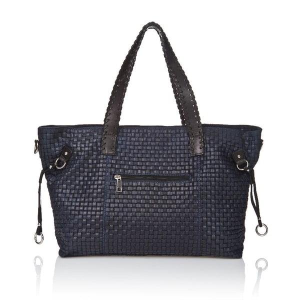 Kožená kabelka Markese 1156 Blue