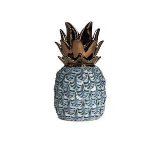 Modrý keramický dekoratívny ananás Simla Nanas, výška 22 cm