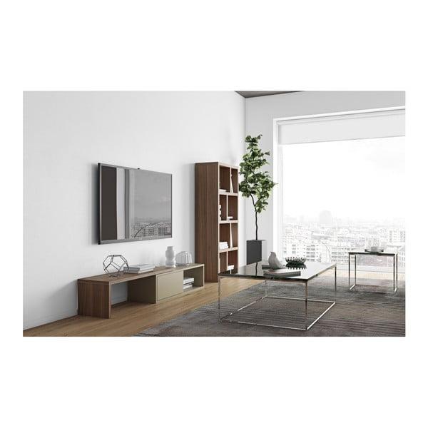 Sivý variabilný televízny stolík s orechovou dyhou TemaHome Move