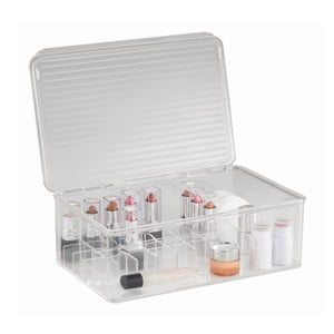 Organizér InterDesign Clarity Lipstick & Cosmetic Box, 27,5x18,5x9,5 cm