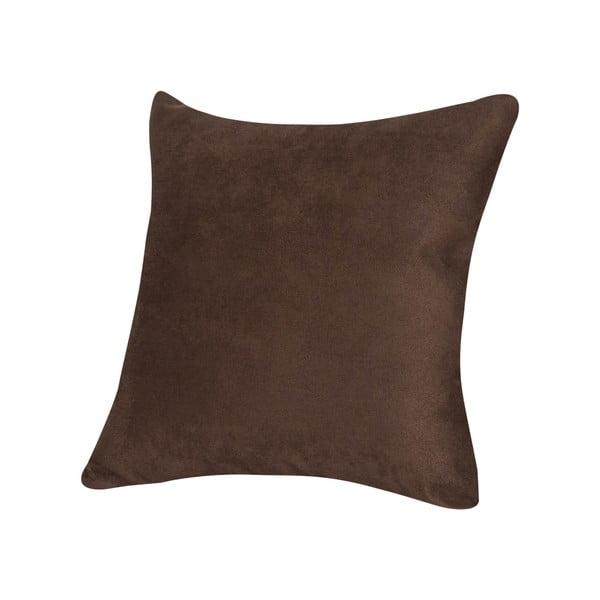 Vankúš z mikrovlákna Pillow 40x40 cm, čokoládový