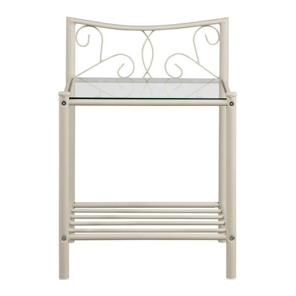 Biely kovový nočný stolík Støraa Isabelle