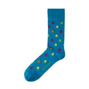 Modré ponožky Black&Parker London Plantation Garden, veľkosť 37 – 43