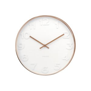 Biele hodiny Present Time Minimal Copper
