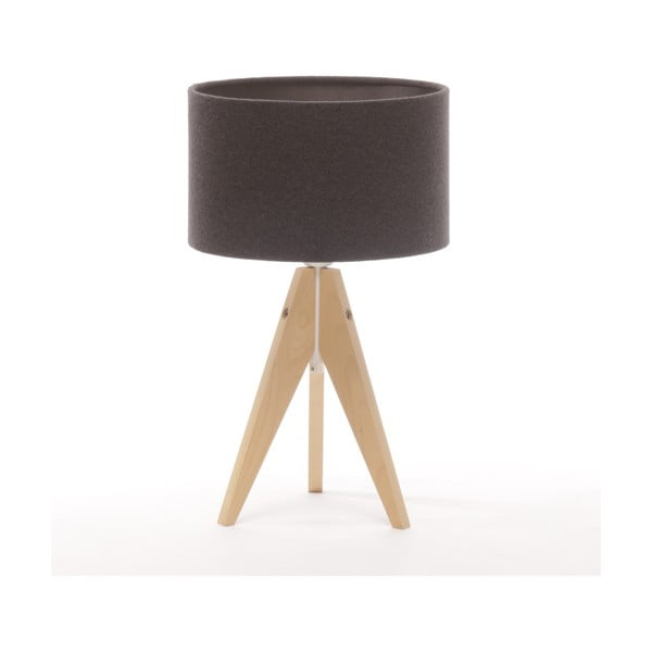 Stolná lampa Arist Cylinder Dark Grey/Natural
