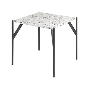 Stôl s doskou z materiálu teraco RGE Terrazzo Cosmos, 50 x 50 cm