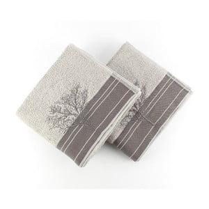 Sada 2 sivých bavlnených uterákov Infinity Grey, 50x90 cm
