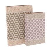 Sada 2 boxov v tvare knihy InArt Charming Garden
