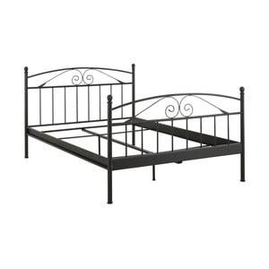 Čierna dvojložková posteľ Støraa Bibi, 140 x 200 cm