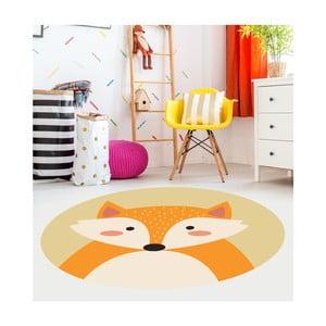 Detský vinylový koberec Floorart Líška, ⌀ 100 cm