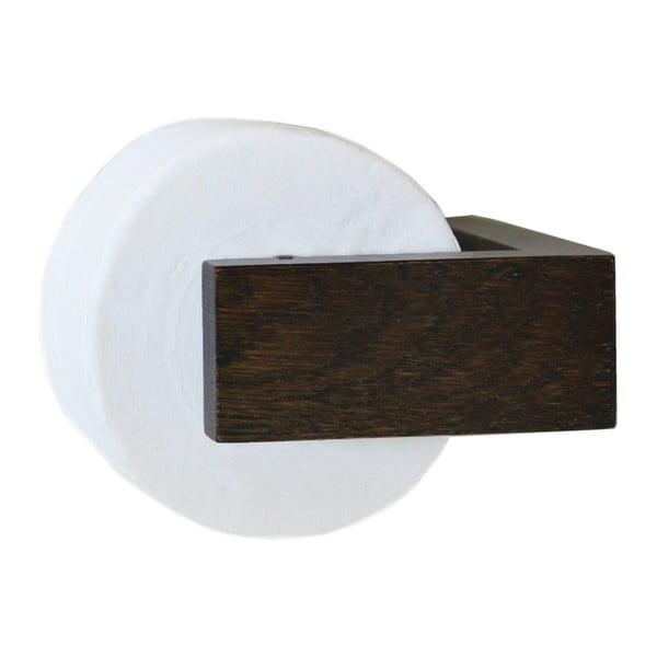 Drevený nástenný držiak na toaletný papier Wireworks Mezza Dark