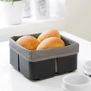Čierno-sivý košík na chleba Steel Function Roma