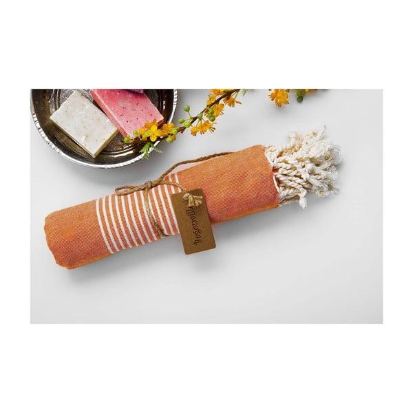 Hamam osuška Line Orange, 100x180 cm