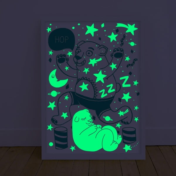 Plagát svietiaci v tme OMY Orso, 30 x 40 cm