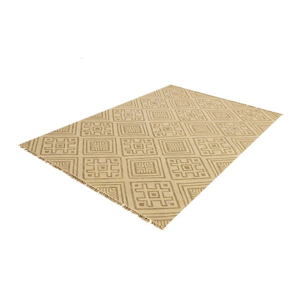 Ručne tkaný koberec Kilim Karuna, 60x90cm
