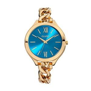 Dámské hodinky Aubade Gold/Blue Lagoon, 40 mm