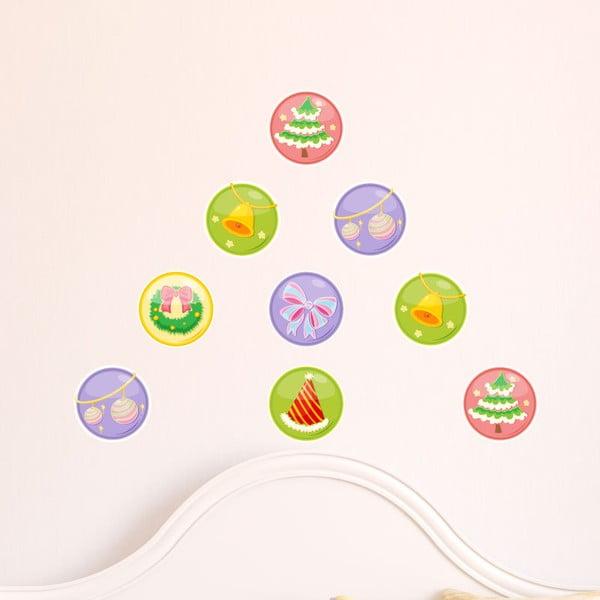 Samolepky Christmas Balls