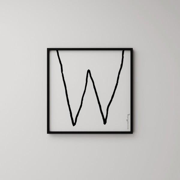 Plagát Litera W, 50x50 cm