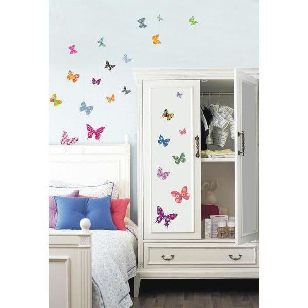 Sada 25 samolepiek Ambiance Butterflies