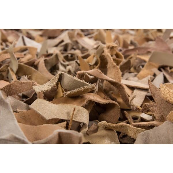 Kožený koberec Rodeo 80x150 cm, béžový
