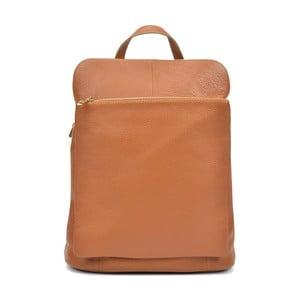 Koňakovohnedý kožený batoh Isabella Rhea Maria