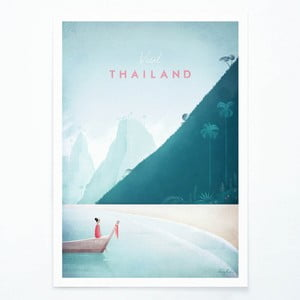 Plagát Travelposter Thailand, A3