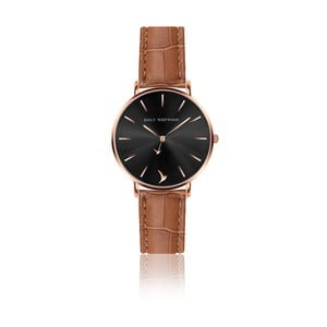 Dámske hodinky s hnedým remienkom z pravej kože Emily Westwood Claire