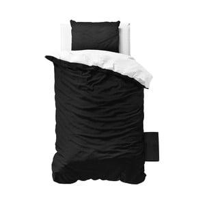 Čierno-biele obliečky z mikroperkálu Zensation Twin Face, 140 x 200 cm