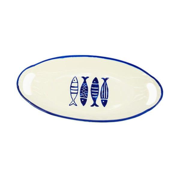 Keramický tanier InArt Fish, 40x21 cm