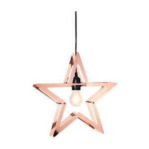 Závesná LED hviezda vo farbe medi