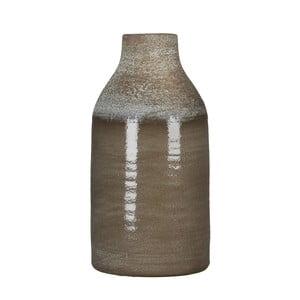 Hnedá váza Mica Belinda, 30x16 cm